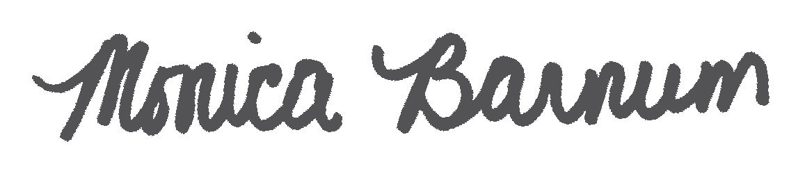 Monica Barnum signature